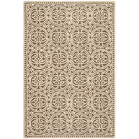 Safavieh Cambridge CAM232A Tan Wool Rug