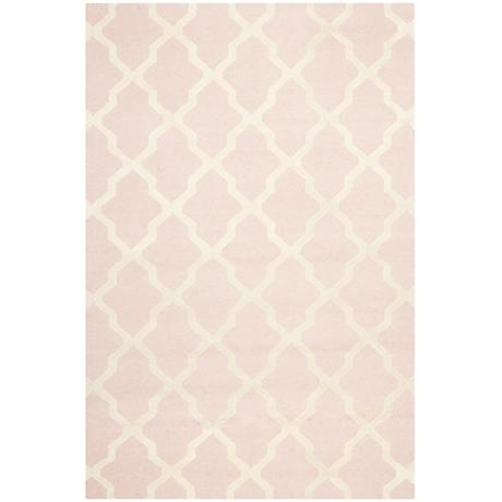 Safavieh Cambridge CAM121M Light Pink/Ivory Wool Rug
