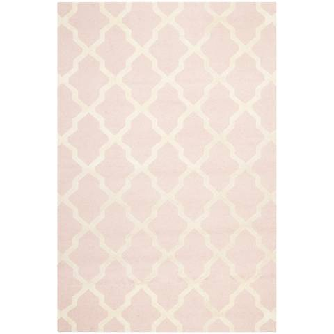 Safavieh Cambridge CAM121M Light Pink/Ivory Wool Rug