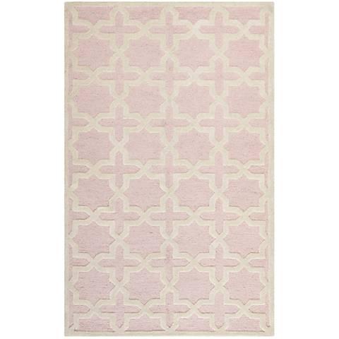 Safavieh Cambridge CAM125M Light Pink/Ivory Wool Rug