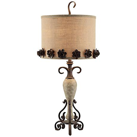 Crestview Collection Secret Garden Bloom Iron Table Lamp