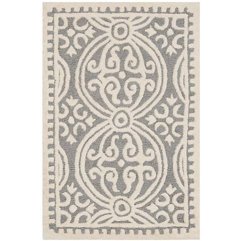 Safavieh Cambridge CAM123D Silver/Ivory Wool Rug