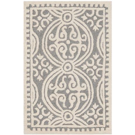 Safavieh Cambridge CAM123D Silver/Ivory Wool Rug
