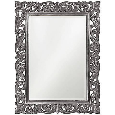 """Howard Elliott Chateau 31 1/2"""" x 42"""" Gray Wall Mirror"""