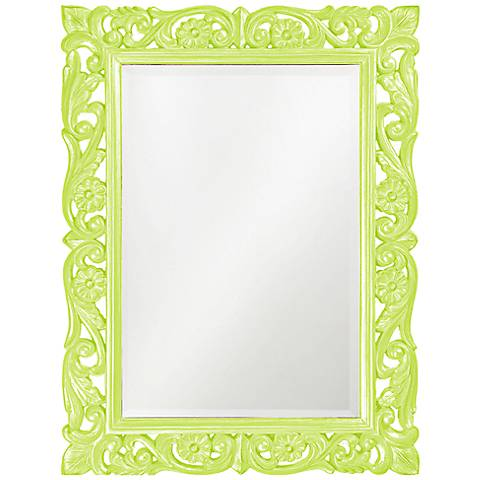 "Howard Elliott Chateau 31"" x 41"" Green Wall Mirror"
