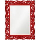 "Howard Elliott Chateau 31"" x 41"" Red Wall Mirror"