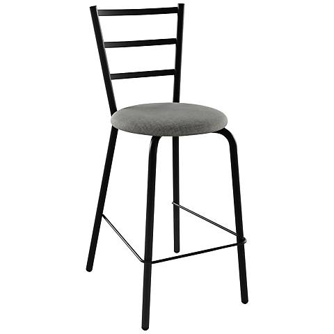 "Amisco Sofia Ritzy 26"" Black Coral Counter Stool"
