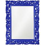 "Howard Elliott Chateau 31"" x 41"" Royal Blue Wall Mirror"
