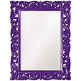 "Howard Elliott Chateau 31"" x 41"" Royal Purple Wall Mirror"