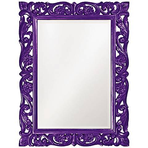 "Howard Elliott Chateau 31 1/2"" x 42"" Purple Wall Mirror"