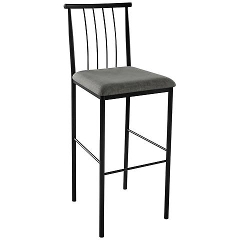 "Amisco Alan Ritzy 24"" Black Coral Counter Stool"
