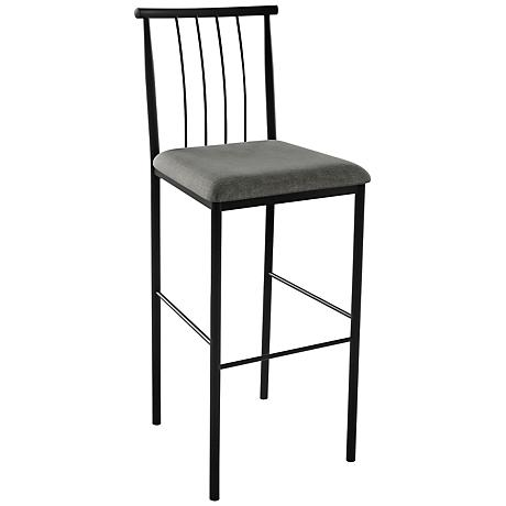 """Amisco Alan Ritzy 24"""" Black Coral Counter Stool"""