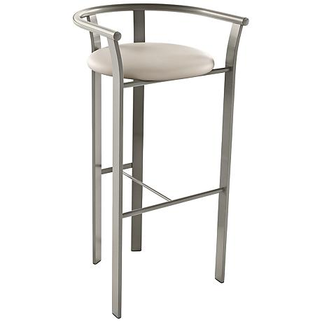 lolo oyster 26 titanium warm gray counter stool 5j917 lamps plus. Black Bedroom Furniture Sets. Home Design Ideas