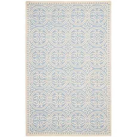 Safavieh Cambridge CAM123A Light Blue/Ivory Wool Rug