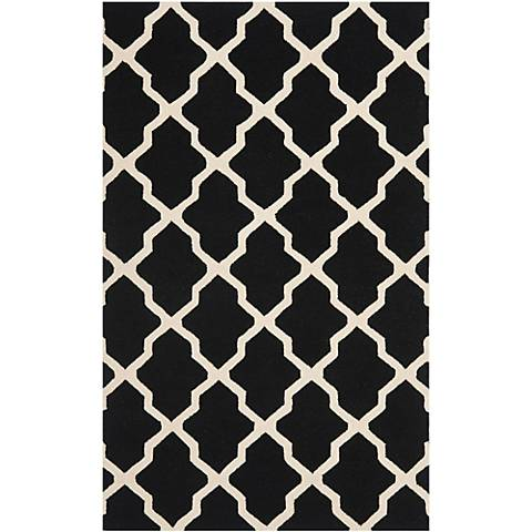 Safavieh Cambridge CAM121E Black/Ivory Wool Rug