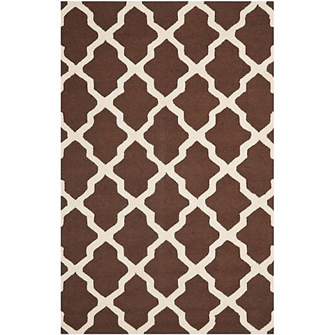 Safavieh Cambridge CAM121H Brown/Ivory Wool Rug