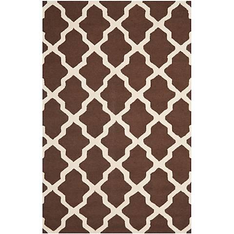Safavieh Cambridge CAM121H Brown/Ivory Wool Rug