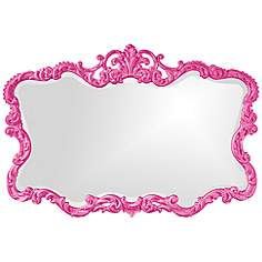 Pink Wall Mirror crown top, wall mirrors, mirrors | lamps plus