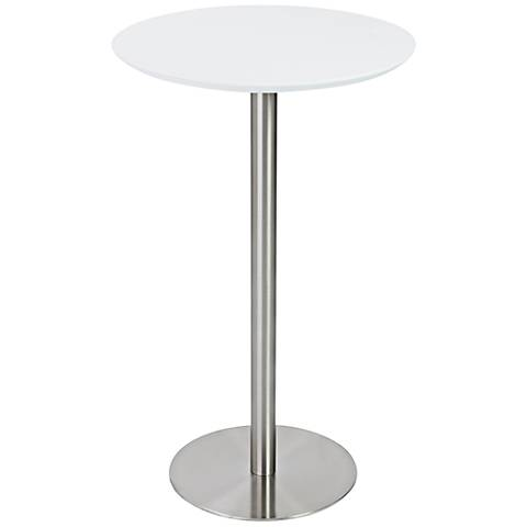Cookie White Contemporary Round Bar Table