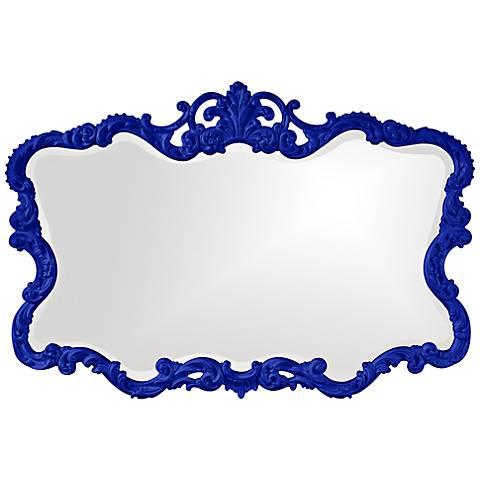 "Howard Elliott Talida 38"" x 27"" Royal Blue Wall Mirror"