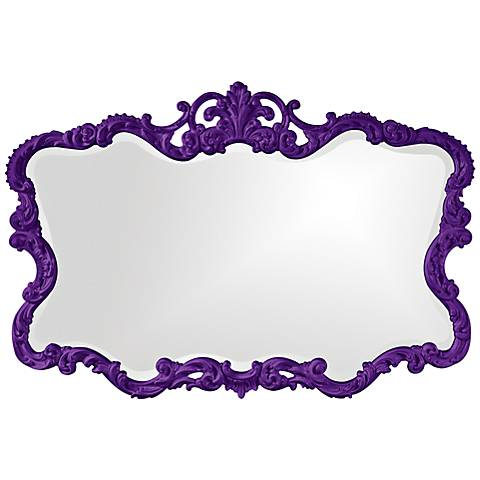 "Howard Elliott Talida 38"" x 27"" Royal Purple Wall Mirror"