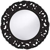 "Howard Elliott Glendale 26"" Round Black Wall Mirror"