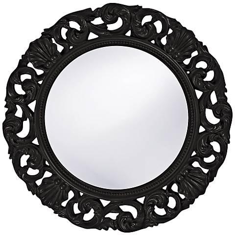 "Howard Elliott Glendale 26"" Round Black Wall Mirror"