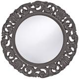 "Howard Elliott Glendale 26"" Round Charcoal Gray Wall Mirror"