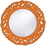 "Howard Elliott Glendale 26"" Round Orange Wall Mirror"