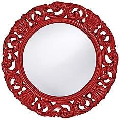 Red Wall Mirror howard elliott, wall mirrors, mirrors | lamps plus