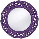 "Howard Elliott Glendale 26"" Round Royal Purple Wall Mirror"