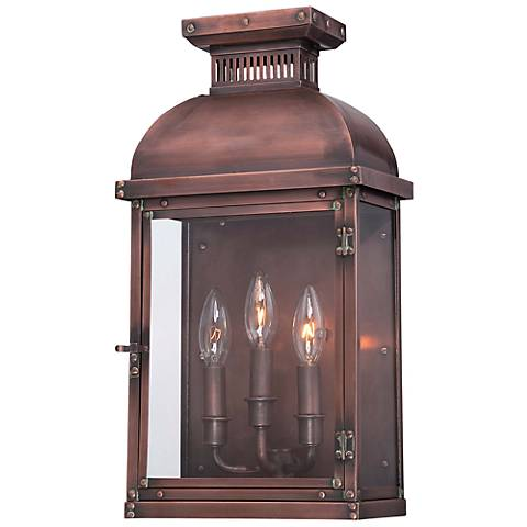 "Minka Copperton 18 1/2"" High Copper Outdoor Wall Light"