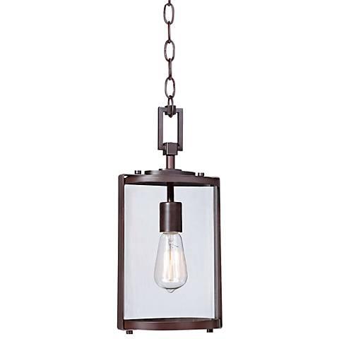 "Minka Ladera 15 3/4"" High Bronze Outdoor Hanging Light"