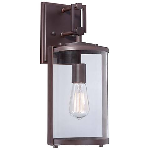 "Minka Ladera 16 1/2"" High Alder Bronze Outdoor Wall Light"
