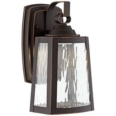 "Minka Talera 10 3/4"" High LED Bronze Outdoor Wall Light"