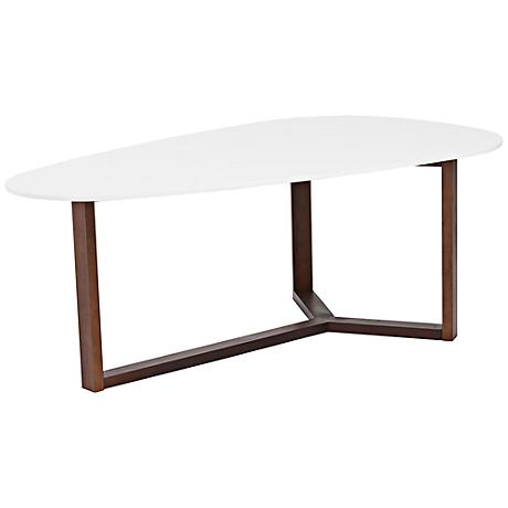 Morty White Modern Coffee Table