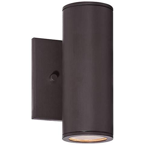 "Minka Skyline LED 7 3/4"" High Bronze Outdoor Wall Light"