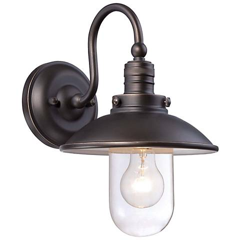 "Minka Downtown Edison 13"" High Bronze Outdoor Wall Light"