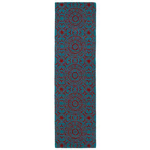 Kaleen Evolution EVL03-94 Peacock Wool Area Rug