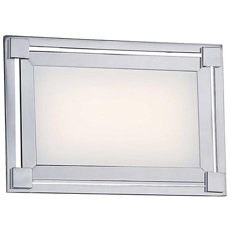 """George Kovacs Framed 9 1/4"""" Wide LED Chrome Wall Sconce"""