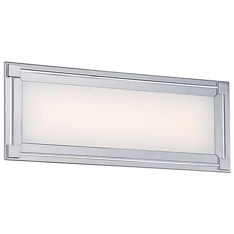 """George Kovacs Framed 16"""" Wide LED Chrome Bath Light"""