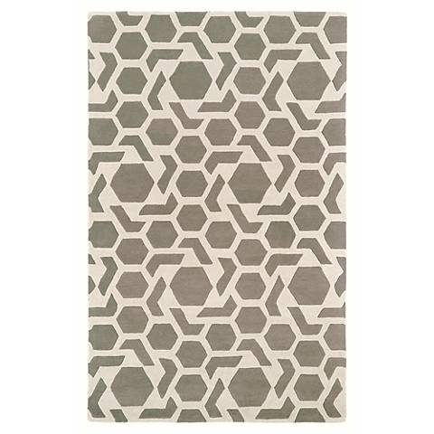 Kaleen Revolution REV05-75 Gray Wool Area Rug