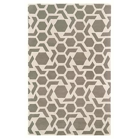 Kaleen Revolution REV05-75 Gray Wool Area Rug