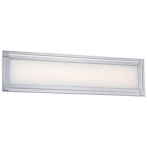 """George Kovacs Framed 24"""" Wide LED Chrome Bath Light"""