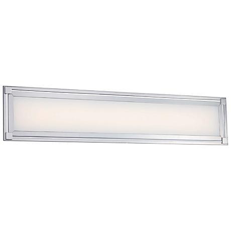 """George Kovacs Framed 30"""" Wide LED Chrome Bath Light"""