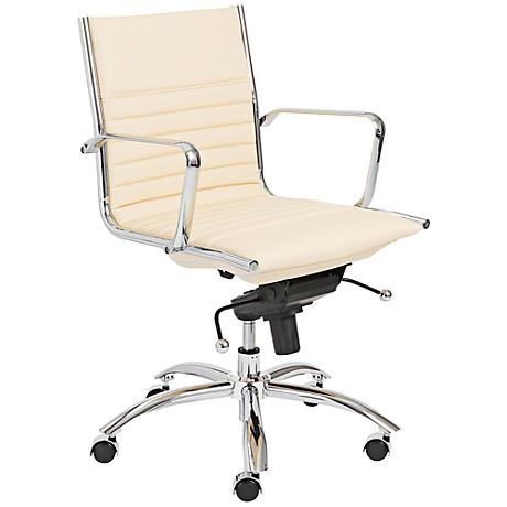 Lugano Butter Leatherette Low Back Office Chair