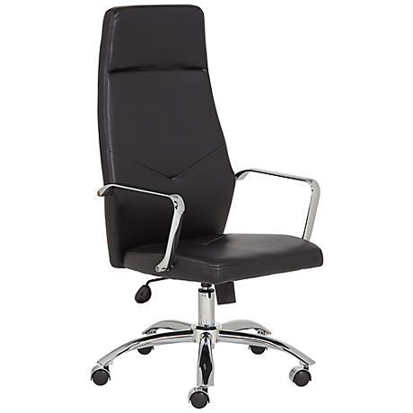 Milton Black Leatherette High Back Office Chair