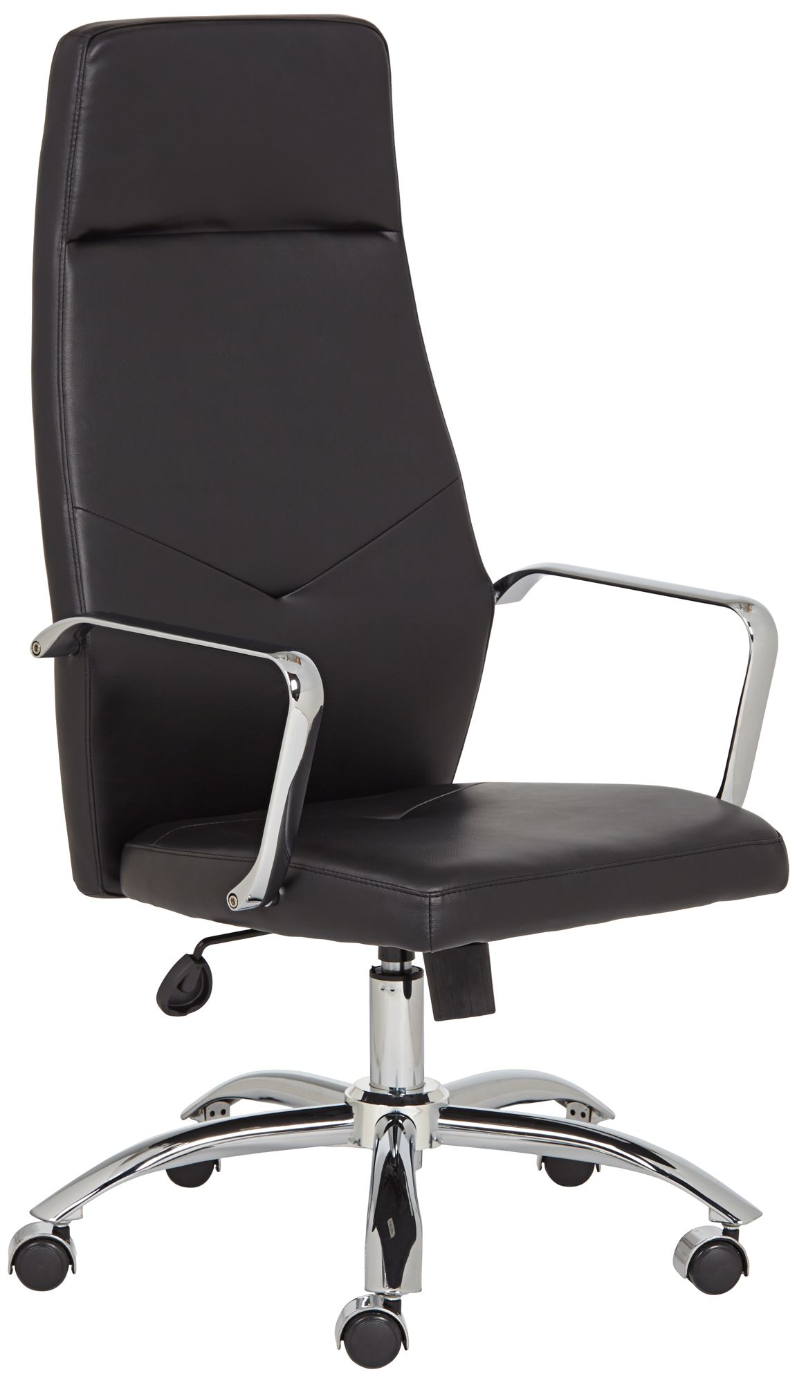 milton black leatherette high back office chair