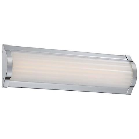 george kovacs verin 16 wide led chrome bath light - George Kovacs Bathroom Lighting