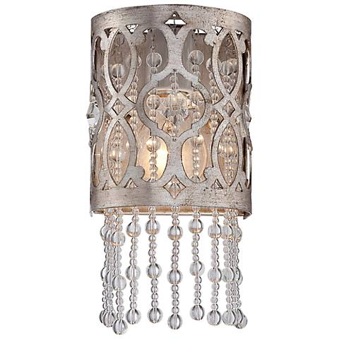 "Jessica McClintock Home Lucero 10 1/4"" High Gold Wall Sconce"
